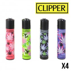 Briquet CLIPPER PINK LEAF x4