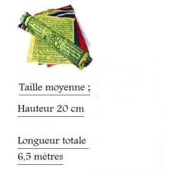 Drapeaux à Prières - Rlx de 25 Dpx de 20x26 cm - Lg 6,50 m (Tibet Prayer Flayer)