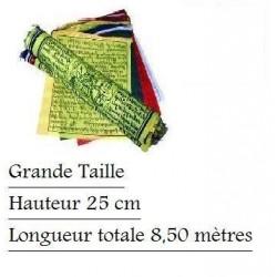 Drapeaux à Prières - 25 Drapeaux  25x33 cm - Lg 8,50 m (Prayer Flayer Tibet)
