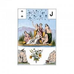 Tarot - Grand Jeu de Mlle LENORMAND 54 cartes + livret