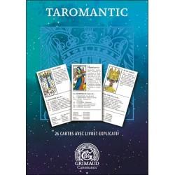 TAROMANTIC  Jeu Divinatoire 26 Cartes Coffret