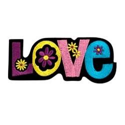 Ecusson Thermocollant LOVE avec Fleurs