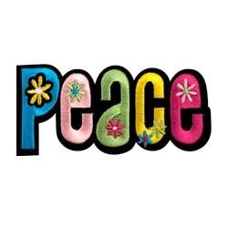 Ecusson Thermocollant PEACE avec Fleurs