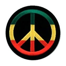 Ecusson Thermocollant Peace and Love Rasta