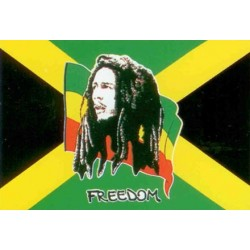 Drapeau Bob Marley FREEDOM...