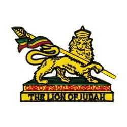 Ecusson Thermocollant Lion of Judah (Rasta shield)